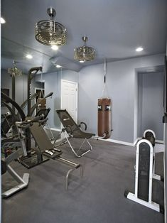 Love color! 58 Awesome Ideas For Your Home Gym. It's Time For Workout