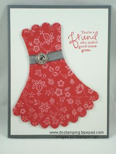 oh what a cute idea-use SU scallop circle die and cut off sides to make it a dress!