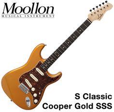 Moollon S Classic Stratocaster Gold 60's Vintage Sound Strat Electric Guitar SSS #Moollon