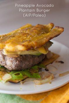 Pineapple, Avocado, Plantain burger (AIP/Paleo)