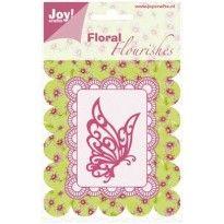 (blad-10) 6003-0006 Joy!Crafts Floral Flourishes Vlinder