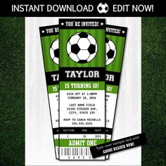 soccer birthday invitation sports theme invitation boys or girls
