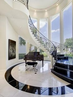 Luxury House Interior Design Tips And Inspiration Dream House Interior, Luxury Homes Dream Houses, Interior Stairs, Dream Home Design, Modern House Design, Home Interior Design, Interior Shop, Modern Mansion Interior, Luxury Homes Interior