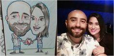 Caricaturas arte tradicional a mano! Tel: 8981-7991 whatsapp