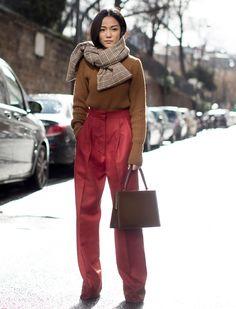 Самые модные шарфы стритстайл-хроник