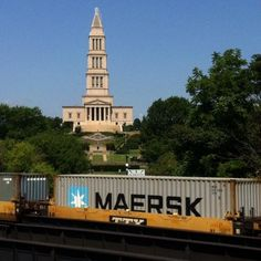 USA - Container train in Alexandria, Virginia