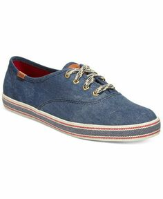 Keds Shoes, Fab Shoes, Cute Shoes, Casual Shoes, Shoes Sneakers, Denim  Sneakers, Denim Shoes, Red Keds, White Keds
