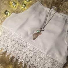 """ᖴᒪᗩᔕᕼ ᔕᗩᒪE✨Women's Summer Lace Tank✨ Gorgeous summer lace crop top. This top looks great on. Wear with some skinny jeans or a nice maxi skirt. Mix up the colors of your bandeau/bralette to fit any outfit. ⭐️Chiffon/Polyester Blend ⭐️Tie Back at Neck ⭐️Sexy Sheer  ⭐️Runs True to Size     *️⃣(If """"applicable""""this item includes sales tax reimbursement computed to the nearest mil') Tops Crop Tops"""