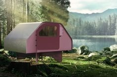 duffy london's flat-packed shelter can be used for disaster relief, first-aid or glamping