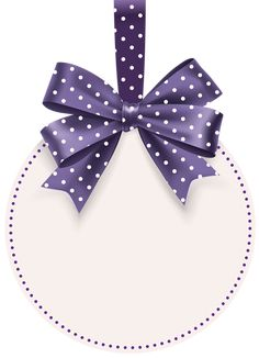 Round Label with Bow Template PNG Clip Art Image