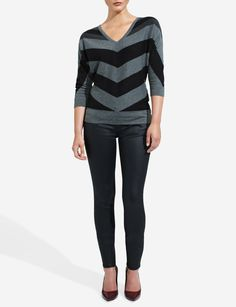 Chevron Stripe Sweater | Women's Sweaters | THE LIMITED