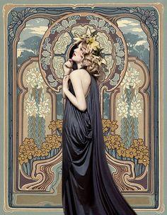 Art nouveau portrait tattoo alphonse mucha 44 Ideas for 2019 Art Nouveau Mucha, Alphonse Mucha Art, Art Nouveau Poster, Poster Art, Art Nouveau Design, Design Art, Art Nouveau Tattoo, Blue Design, Illustration Art Nouveau