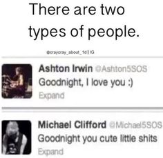 "Ashton is me, I just can't call my friends ""cute little shits"" the way Mikey can.<<< I am so Mikey 😂 allll the way 5sos Tweets, 5sos Memes, Michael Ashton, Michael Clifford, 5sos Funny, Call My Friend, Thing 1, Calum Hood, 1d And 5sos"