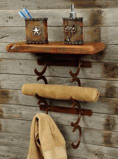 Horseshoe Towel Holder