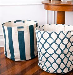 I want these! Would make cute laundry hampers. :-)    Pehr Canvas Basket, See Jane Work