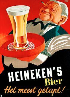 Heineken - vintage ad- heneken bier- heineken beer- dutch ad- The Netherlands