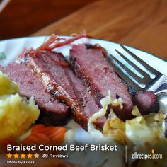 "Braised Corned Beef Brisket | ""I will never boil my corned beef again! Made this recipe for St. Patty's day this year, and it is now THE corned beef recipe in my St. Patrick's Day."""