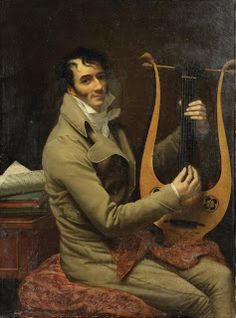 Southern Folk Artist & Antiques Dealer/Collector: Jean-Dominique Fabry Garat Playing Lyre. 1804