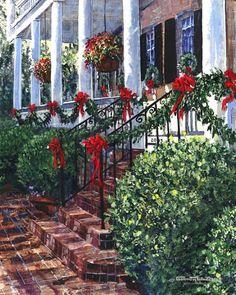 "charleston christmas   Charleston Christmas"" Gordon Wheeler Gallery   Everything Christmas"