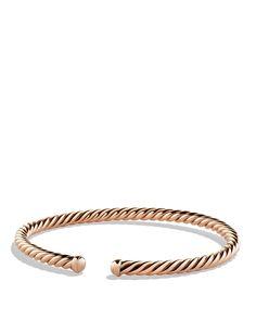e69e88777d3 David Yurman Precious Cable Cablespira Bracelet in Rose Gold