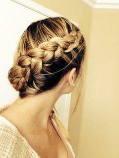 Dutch braid. Or an inside out French braid