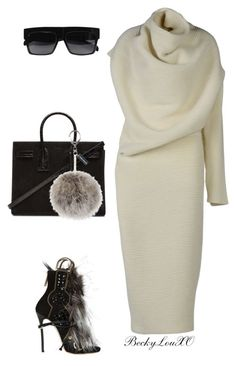 """""""Untitled #53"""" by beckylouxo on Polyvore featuring Acne Studios, Dsquared2, Yves Saint Laurent, CÉLINE and celine"""
