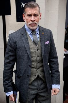Preempt the winter with a great tweed three piece