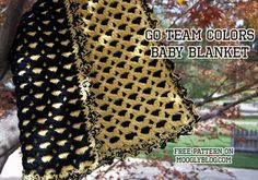Go Team Colors Baby Blanket