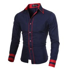 Cheap Casual Shirts, Buy Directly from China Suppliers:Men Shirt 2016 Fashion Brand Men'S Cuff Striped Long-Sleeved Shirt Male Camisa Masculina Casual Slim Chemise Homme XXL CNSKD Cheap Mens Shirts, Mens Shirts Online, Men Shirts, Collar Shirts, Collar Blouse, Shirt Men, Long Sleeve Tops, Long Sleeve Shirts, Plus Size Shirts