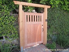MAtching Asian Fusion Style Side Access Gate - West Los Angeles, CA