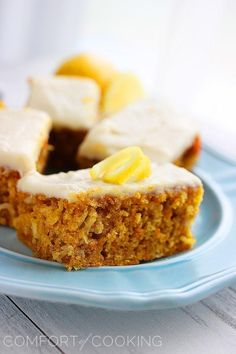 The Comfort of Cooking » Carrot Cake Bars with Lemon Cream Cheese Frosting