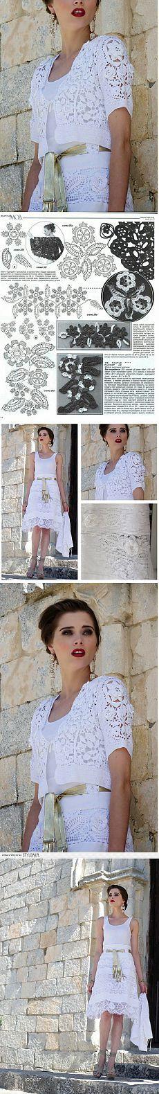 Ирландское кружево , нарядное болеро и юбка.