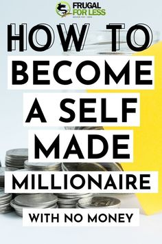 finance goals Learn how to become a self-made millionaire without any money. These tips will help you take a look at your personal finance goals and teach you to think just like real business leaders and CEOs. Theres no reason you cant change your Ways To Save Money, Money Tips, How To Make Money, Self Made Millionaire, Become A Millionaire, Financial Peace, Financial Success, Get Rich Quick, Business Leaders