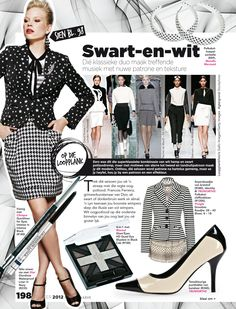 BLACK & WHITE as seen in SARIE May 2012.