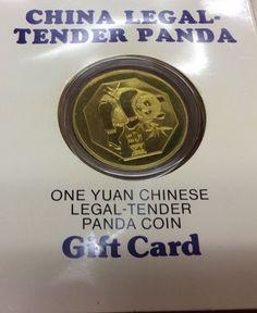 1984 CHINA LEGAL-TENDER PANDA ONE YUAN CHINESE LEAGAL TENDER PANDA COIN
