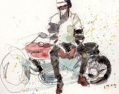 板垣しゅん : 新聞連載小説挿絵『運命の花びら』(後編)