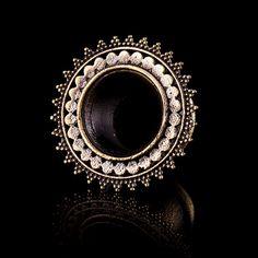 afghan ear tunnels, Brass ear tunnels, brass plugs,gauge jewelry (code 38) on Etsy, $21.00