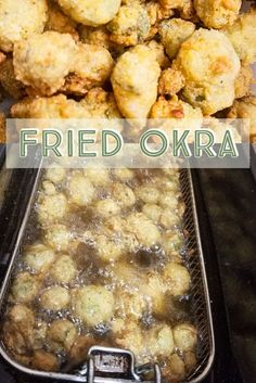 These deep fried little veggie nuggets are a family favorite. Toddler approved too! Veggie Nuggets, Okra, Potato Soup, Fried Chicken, Stir Fry, Allrecipes, Fries, Veggies, Appetizers