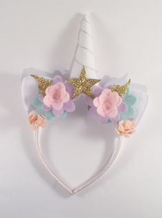 A personal favourite from my Etsy shop https://www.etsy.com/uk/listing/501844143/gold-unicorn-party-headband