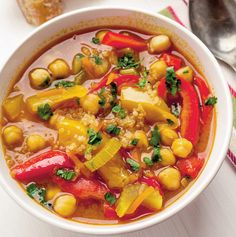 Supe, Thai Red Curry, Quinoa, Food And Drink, Cooking Recipes, Vegan, Ethnic Recipes, Chef Recipes