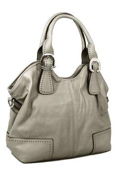 Dámská praktická kabelka na rameno New Berry šedo-hnědá c77e0b9c59d