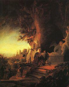 Rembrandt van Rijn - De opgestane Heer verschijnt aan Maria Magdalena