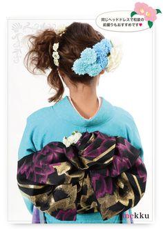 お花のボンネ[ヘッドドレス][花飾り]/ウェディングアクセサリー〜mekku〜【メック】