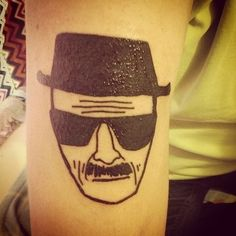 Breaking Bad tat. 20 Scarily Accurate Walter White Tattoos #breakingbad #tattoo