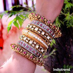 Bridal Bangles, Gold Bangles, Bridal Jewelry, Hand Jewelry, India Jewelry, Jewlery, Amrapali Jewellery, Marriage Jewellery, Indian Accessories