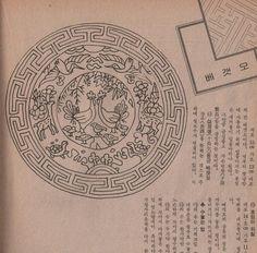 출처 - 1989년 여성동아 12월호 부록 전통자수. 작품- 한상수 자수박물관장 Korean Design, Korean Traditional, Happy Girls, Cross Stitch Embroidery, Needlework, Vintage World Maps, Quilts, Sewing, Pattern