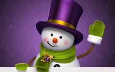 snowman image - Full HD Backgrounds, 1920x1200 (258 kB)