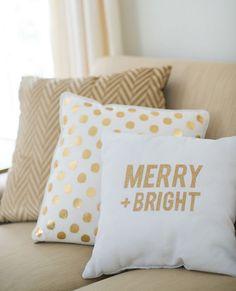 cadeau de Noël original et pas cher avec coussin et décoration avec lettres