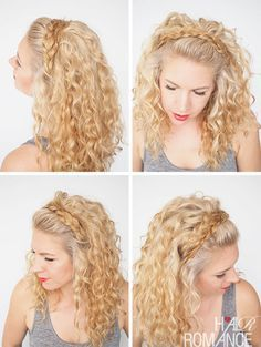 Hair Romance - 30 Curly Hairstyles in 30 Days - Day 27 - Braid Headband