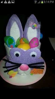 Home made easter hat